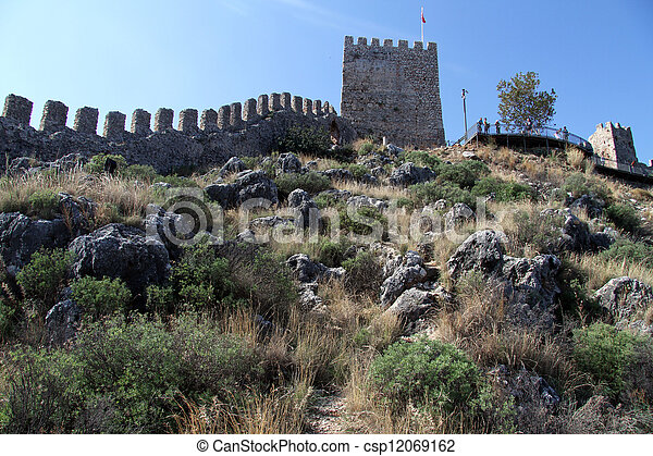 Wall of fortress - csp12069162