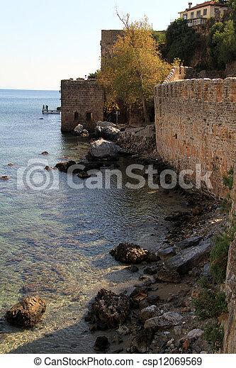 Wall of fortress - csp12069569