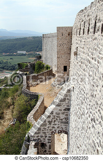 Wall of fortress - csp10682350