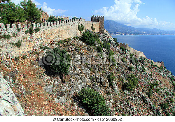 Wall of fortress - csp12068952