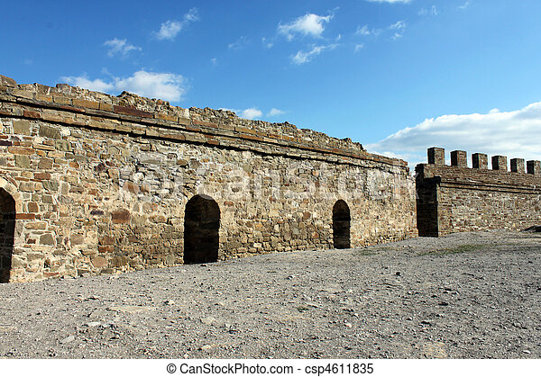 wall of fortress - csp4611835