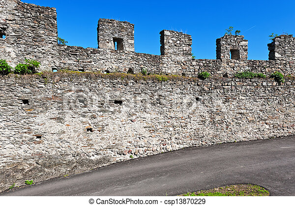 Wall of Fortress - csp13870229