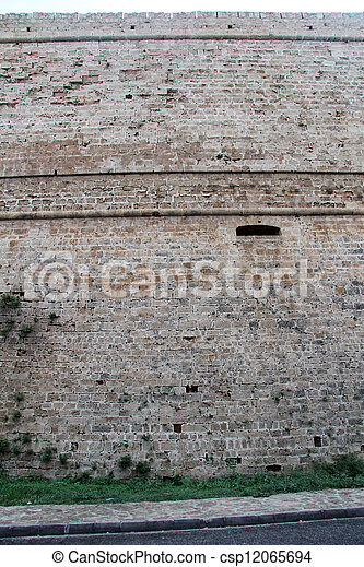 Wall of fortress - csp12065694