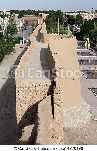 Wall of fortress - csp14270190