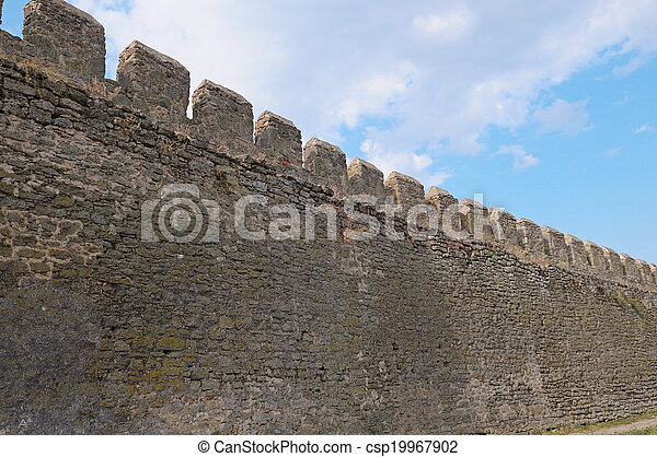 Wall of fortress - csp19967902