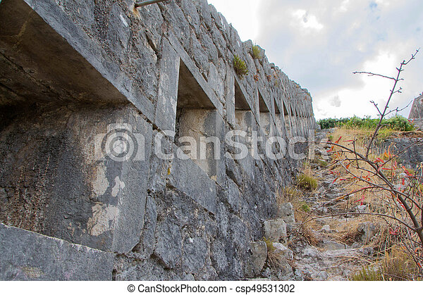 Wall of fortress - csp49531302
