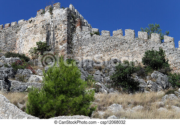 Wall of fortress - csp12068032