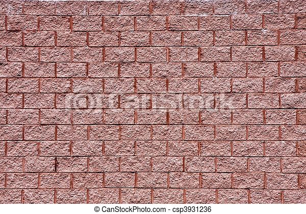 Wall of Old Red Textured Brick - csp3931236