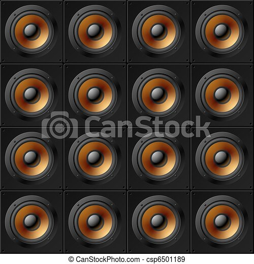 Wall of speakers. Seamless pattern. - csp6501189
