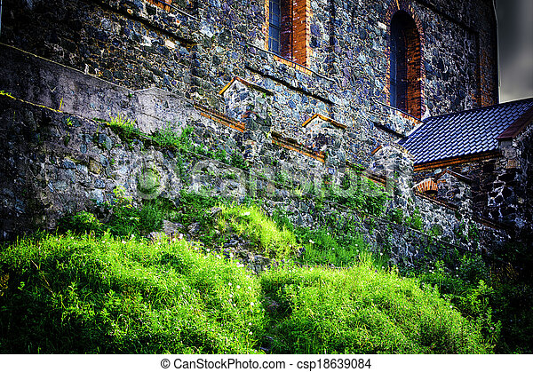 Wall of the castle - csp18639084