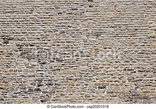 Wall - old historic stone wall, Gothic architecture - csp20201018