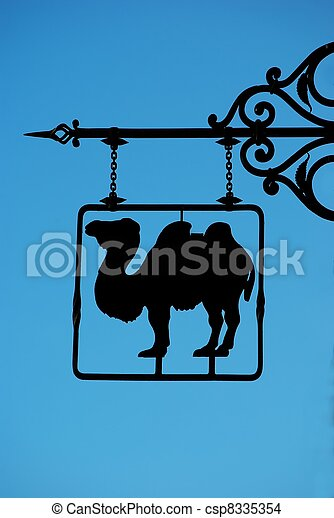 Wall sign with camel - csp8335354