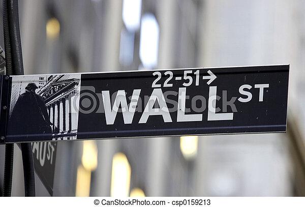 Wall street sign - csp0159213
