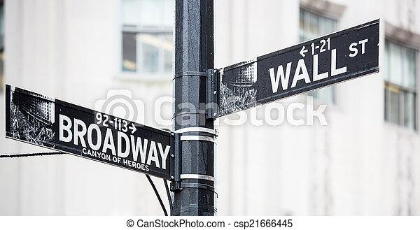 wall street - csp21666445