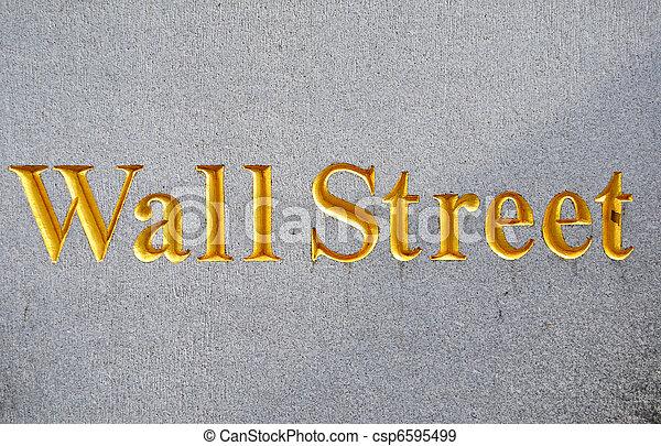 wall street - csp6595499