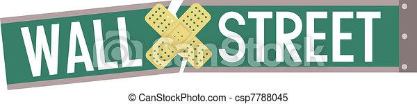 Un vendaje de Wall Street - csp7788045