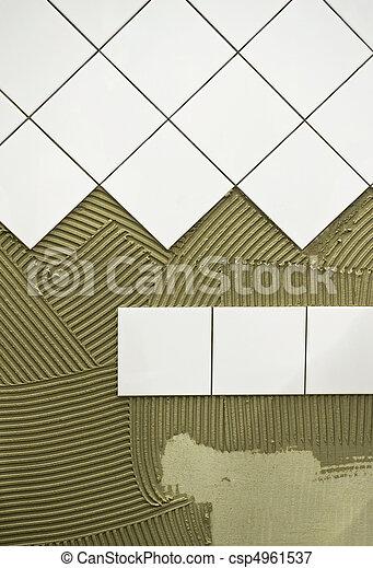 Wall tile glue - csp4961537