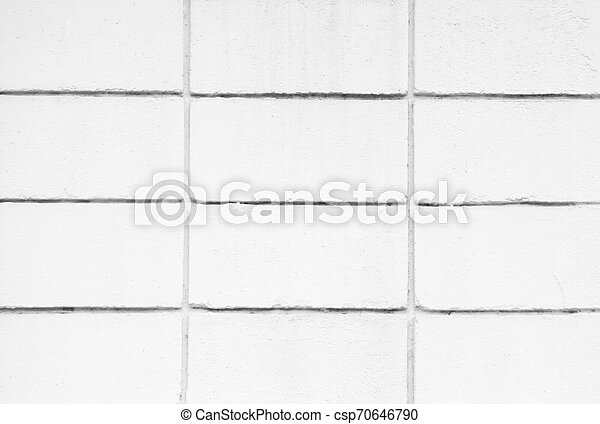 Wall White block for background - csp70646790