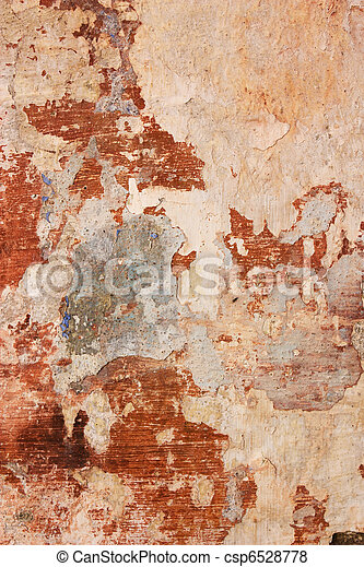 wall with chipped paint - csp6528778