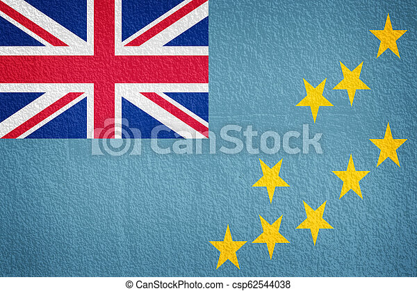 wall with painted flag of Tuvalu - csp62544038
