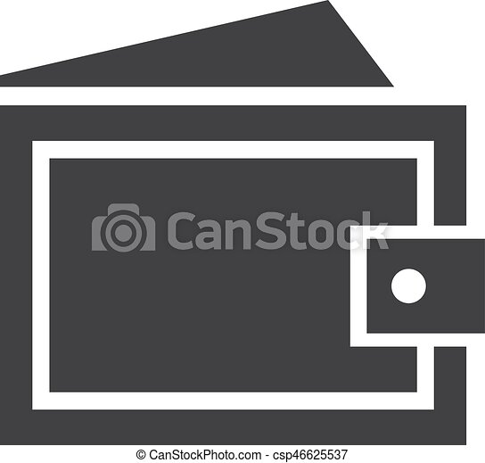 wallet icon in black on a white background vector illustration can stock photo
