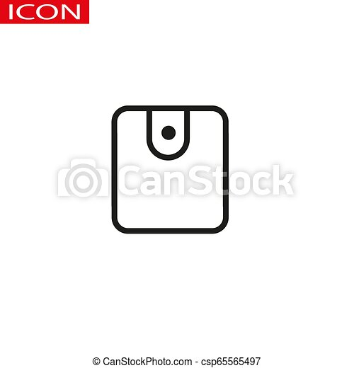 Wallet line icon. High quality black outline logo for web site design and mobile apps. Vector illustration on a white background. - csp65565497