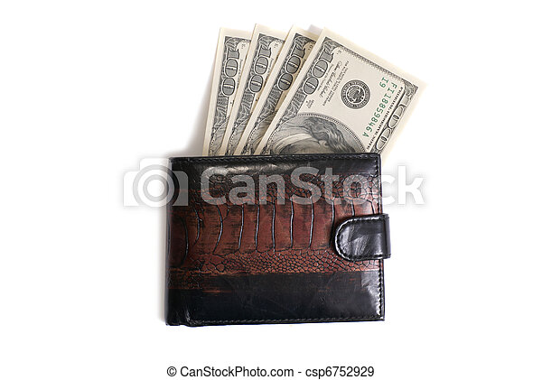 Wallet with dollars - csp6752929