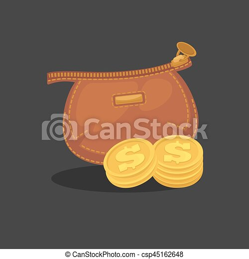Wallets with money shopping. Purse  cash. - csp45162648