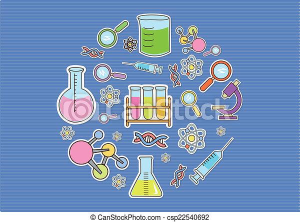 Wallpaper Doodle Bio Technology - csp22540692