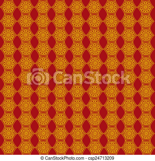 Wallpaper With Golden Patterns On T