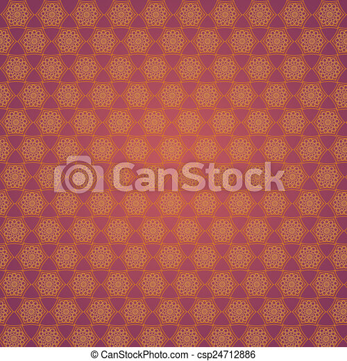 Wallpaper With Golden Patterns On The Red