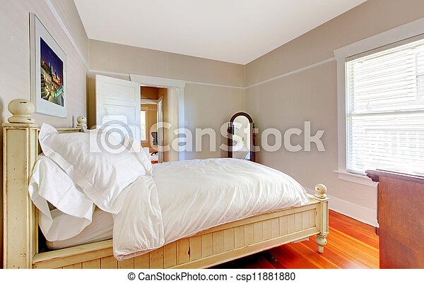 Walls łóżko Jasny Beżowy Sypialnia Biały