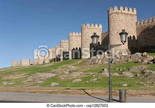 Walls of Avila, Castilla y Leon, Spain - csp12827653