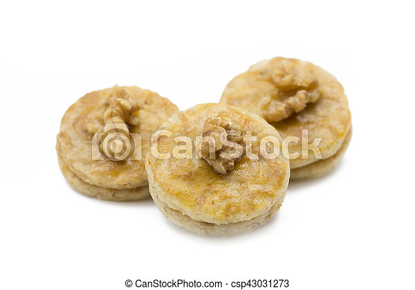 Walnut apricot cookies, shot taken with shallow depth of field (DOF) - csp43031273