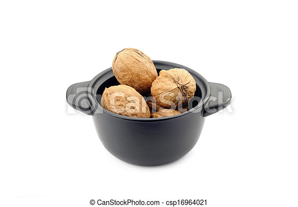 Walnuts in a Black Cup - csp16964021