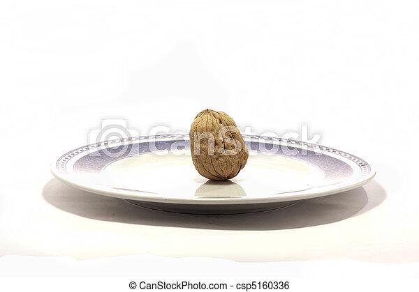walnuts on a plate - csp5160336