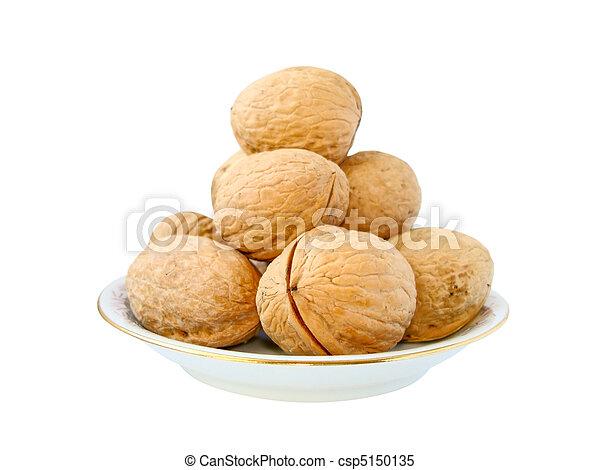 walnuts on a plate - csp5150135
