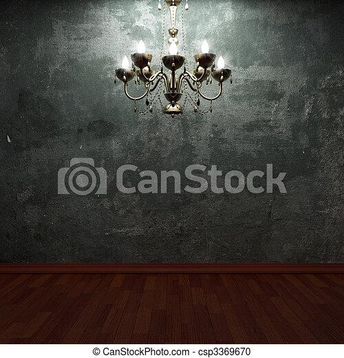 wand beton kronleuchter altes stock illustration - Kronleuchter Wand