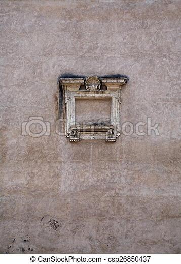 Wand, design. Kunst, wand, detail, rome., architektur, altes .