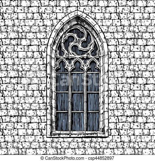 Wand fenster gotische wand weinlese altmodisch for Fenster 800x800