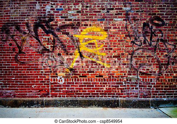Graffiti Wand - csp8549954