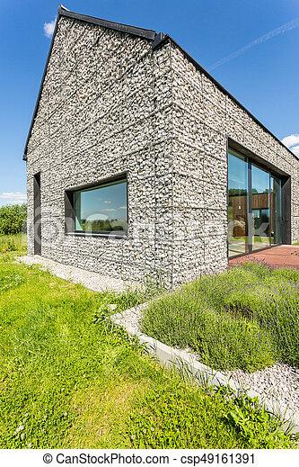 Wand, Haus, Kiesel, Modern, Stein   Csp49161391