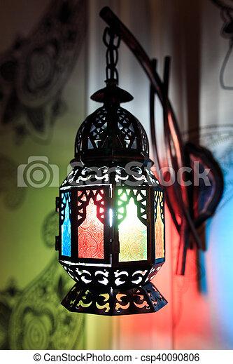 glas lampen aus ägypten bunt