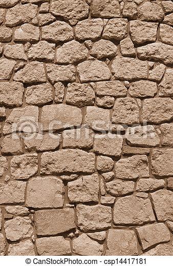 Wand, Naturstein, Altes , Hintergrund   Csp14417181