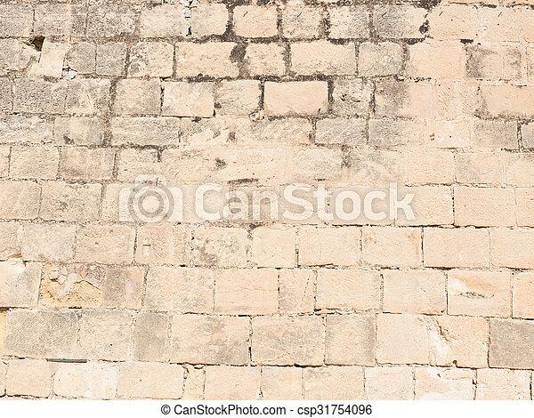 Wand, Naturstein, Altes   Csp31754096