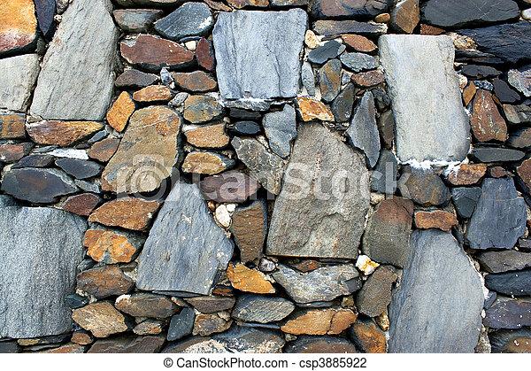 wand, stein, altes , beschaffenheit - csp3885922