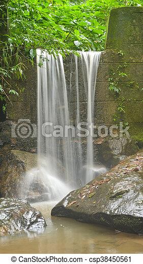Wand Stein Wasserfall Brasilien Stein Janeiro Wand De