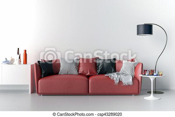 Wand, wohnzimmer, hintergrund, leer. Lebensunterhalt, illustration ...