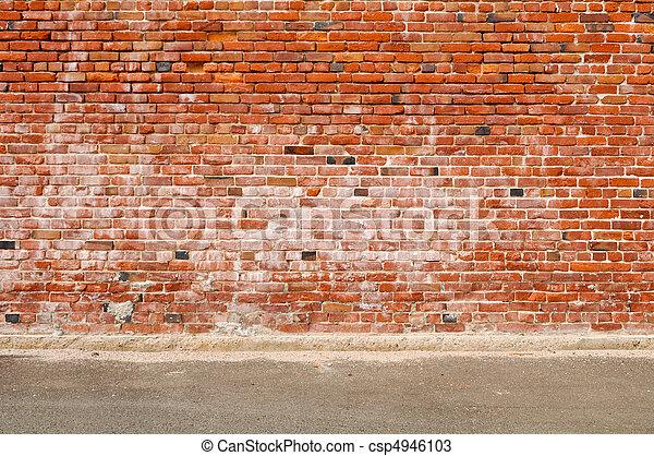 Alte Mauer und Straße - csp4946103