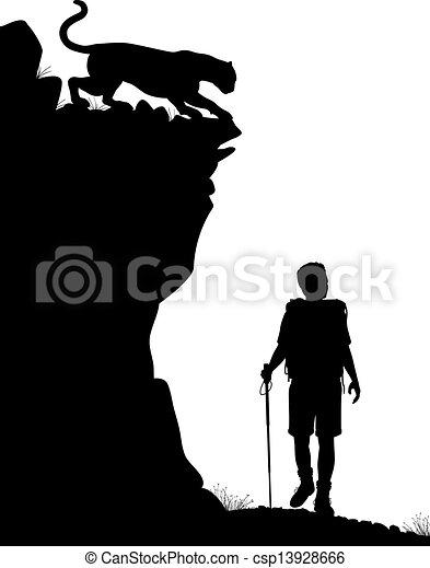 wanderer, einsam - csp13928666